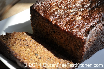 Gluten Free Makeup on Homemade Gluten Free Banana Bread   Gluten Free Test Kitchen Recipes